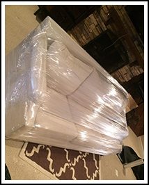 Commercial Moving Services in Charlotte, NC, Wrapped Sofa